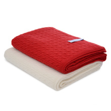 Чистый кашемир трикотажные одеяло с кабелями