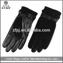 China Großhandel Männer Wildleder Motorrad Leder Handschuh