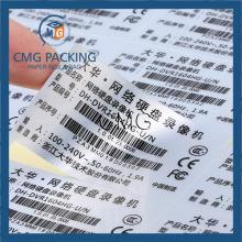 Customized Matt Silver Sticker with Strong Glue (CMG-STR-006)