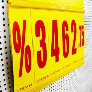 Supermercado POP Price Sign Display Board