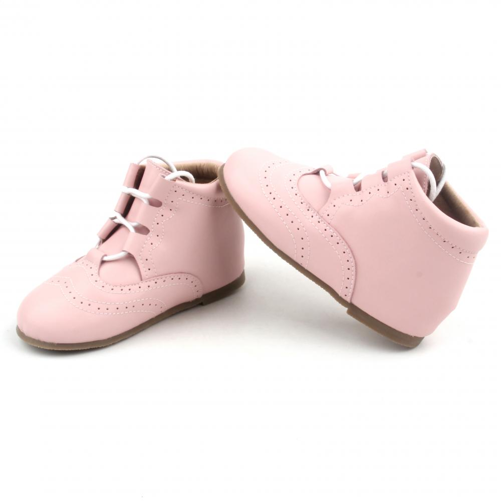 Lacework Pink Cute Warm Baby Girl Leather Boots