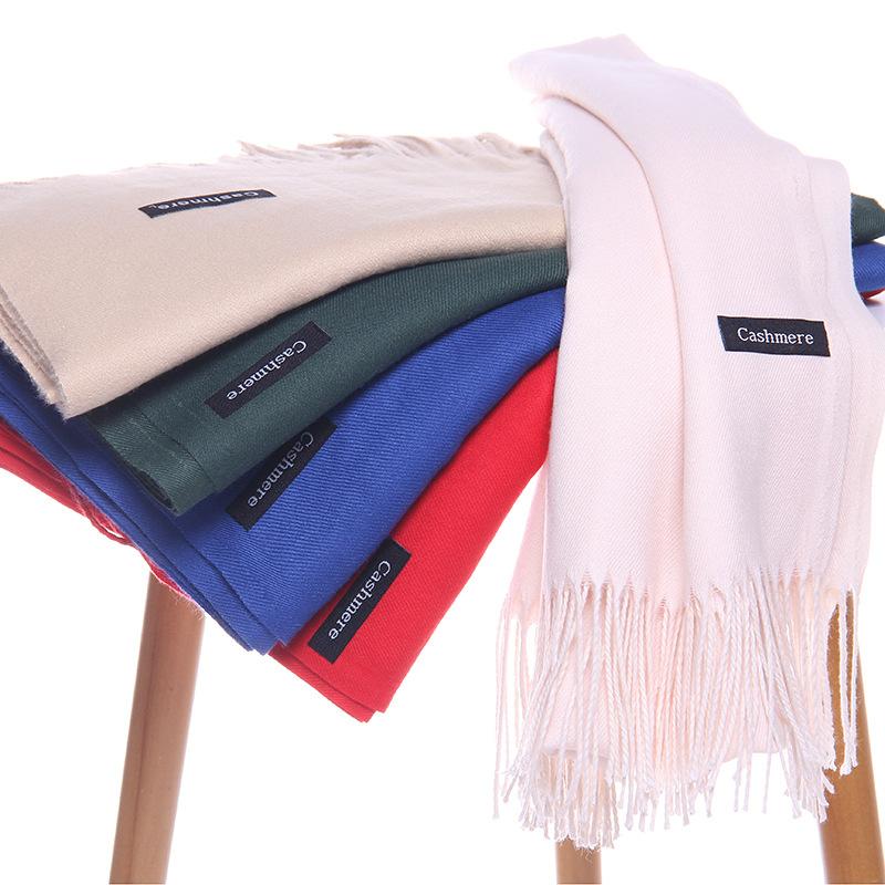 Pure color imitation cashmere scarf cashmere scarf (1)