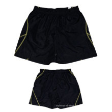 Yj-3014 Mens Black Lined Microfiber Sports Summer Shorts for Men
