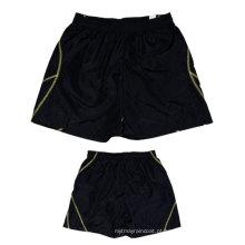 Yj-3014 Mens preto alinhado microfibra esportes verão shorts para homens