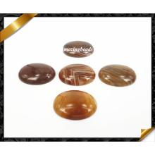 Joyería de alta calidad marrón ágata cabujón (hg024)