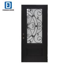 Фанда 3/4 облегченный утюг элегантность стеклопластик входная дверь с коваными
