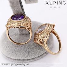 12487- Xuping Jewelry Fashion elegante anillo chapado en oro para hombre