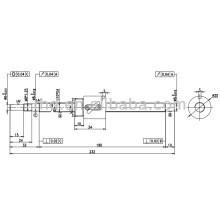 Parafuso de esferas BSHR1004-NFC7-232-P0-0.05