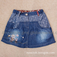 kids clothing baby girl butterfly embroidery summer jeans skirt fresh