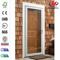 White Fullview Etched Glass Easy Install Storm Door