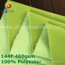 Tela polar feita malha de trama do poliéster do velo para a matéria têxtil da roupa (GLLML380)