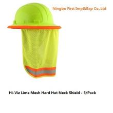 Bouclier de cou pour casque en maille de chaux Hi-Viz (DFV1999)
