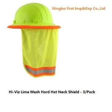 Hi-Viz Lime Mesh Hard Hat Neck Shield (DFV1999)