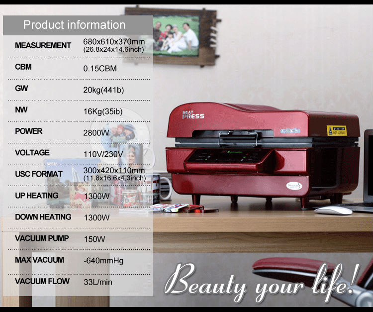 FREESUB Phone case Heat Press Sublimation Machine