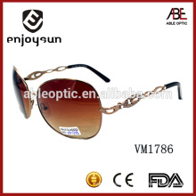 brown color polarized metal frame fashionable sunglasses