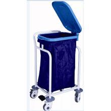 Coated Steel Medical Trolley für Abfall Sammeln