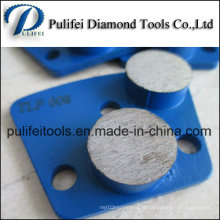 Tampon de polissage de plancher avec segment de meulage de béton à liaison métallique