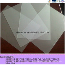 400 Mircon Clear Matt Geprägtes PVC-Blatt für den Druck