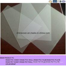 Folha de PVC em relevo mate Mircon Clear 400 para impressão
