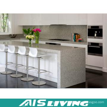 Armarios de cocina artificiales del cuarzo para la venta al por mayor (AIS-K383)