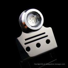 12V 9W Trim aba luz luz de aço inoxidável LED Marine