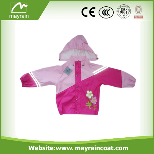 Kids PU Pink Rainsuit
