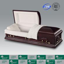Popular estilo americano chapa ataúd ataúd para el entierro
