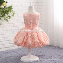 Vestido de fiesta de niñas rosa diseños de vestidos baratos niñas fiesta y desgaste de la boda vestido de niña de las flores para el bebé