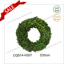 D35cm Everyday Decoration Party Decoration Preserved Boxwood Wreath Decoration