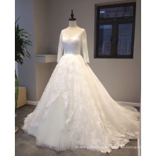 New Arrival 2017 Princess Bridal Wedding Dress with Long Sleeve