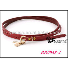 Dark Red Fancy Skinny Leather Belts For Men With Size 0.7cmW*87.5cmL Wholesale BB0048-2