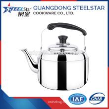201# stainless steel Flat Bottom Whistling water kettle