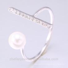 Anillo de la perla de la joyería de plata esterlina de la joyería de la nueva joyería 2018