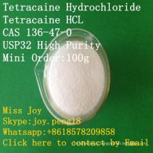 УСП Тетракаина гидрохлорид Тетракаина Хлоргидрат гидрохлорида высокой степени чистоты в CAS 136-47-0 местный Анестетик АПИ боли
