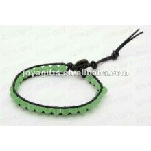 Friendship wrap Bracelets with Green Aventurine stone Beads