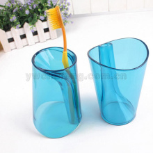 Prévention des écailles Laver la tasse de gargarisme Dazzle couleur transparente Deux dans une tasse de burshing de dent Tasse d'eau