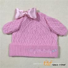 Lovely Ears et Bowknot Design Chapeau tricoté pour les filles