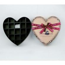 Caja de chocolate con forma de corazón, caja con divisor 18