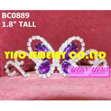 Фиолетовые бабочки короны и тиары