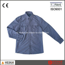 100% Nylon Long Sleeve Multiple Pockets Worker Shirt