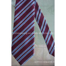 Cravate en tissu jacquard en polyester poli pour homme