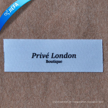 Etiqueta feita sob encomenda de alta qualidade da cópia / logotipo do tipo que imprime a etiqueta do Polyster