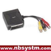 Boîte de découpe Scart male to 3 RCA adaptateur de câble femelle
