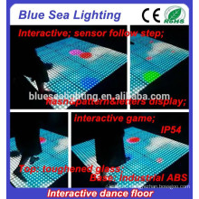Led glass folding illuminated disco dance floor