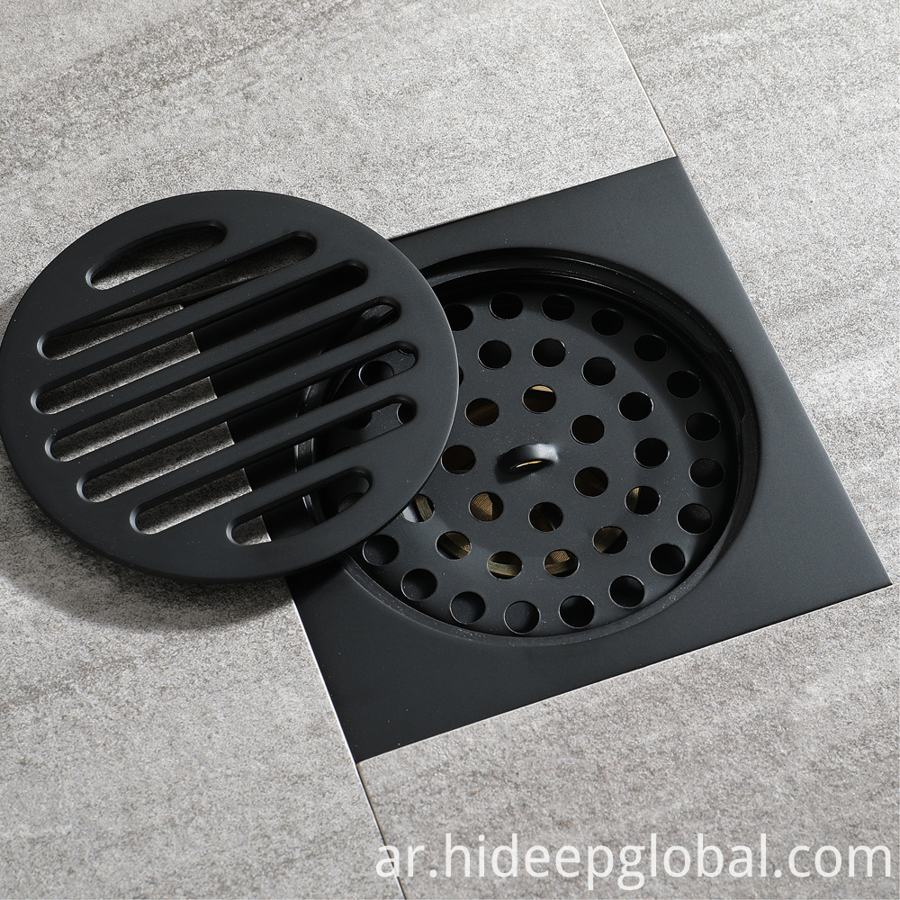 Round Full Copper Black Floor Drain