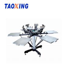 Máquina de impressão de t-shirt manual de 6 cores