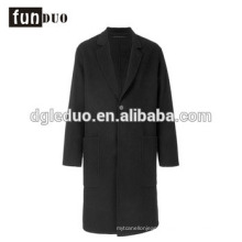 Men black long length jacket top grade dress black jacket