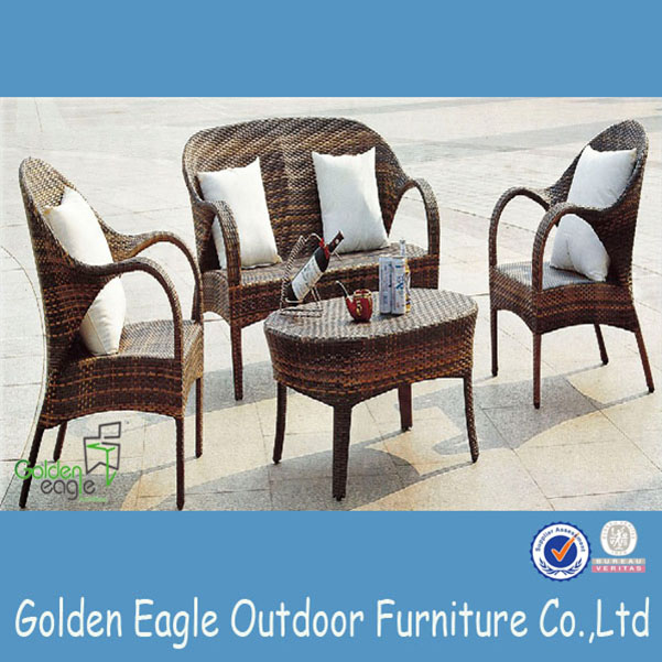 PE wicker aluminium outdoor furniture