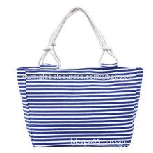 MiMosa Bluish Fashionable Canvas Handbag, Eco-friendly and Biodegradable, Manufacturer Wholesale