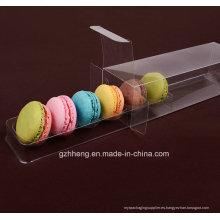 Caja de embalaje transparente de Macaron de plástico (paquete de pastel)